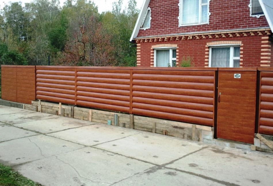 Забор из сайдинга своими руками 65