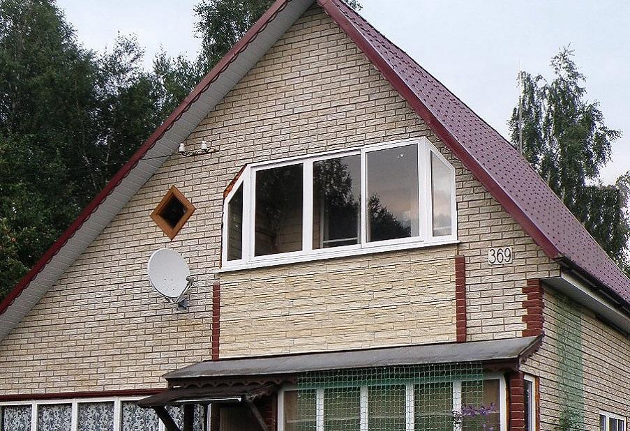Отделка фасадов частных домов фото сайдинга