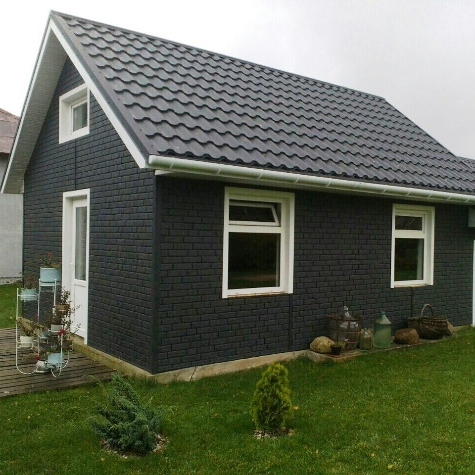 Ю-Пласт Stone House - отделка фасадными панелями